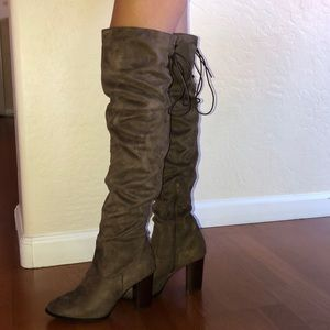 Over-Knee Length Brown Boots